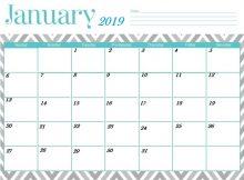 Cute January Calendar 2019