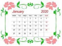 Floral Calendar January 2020