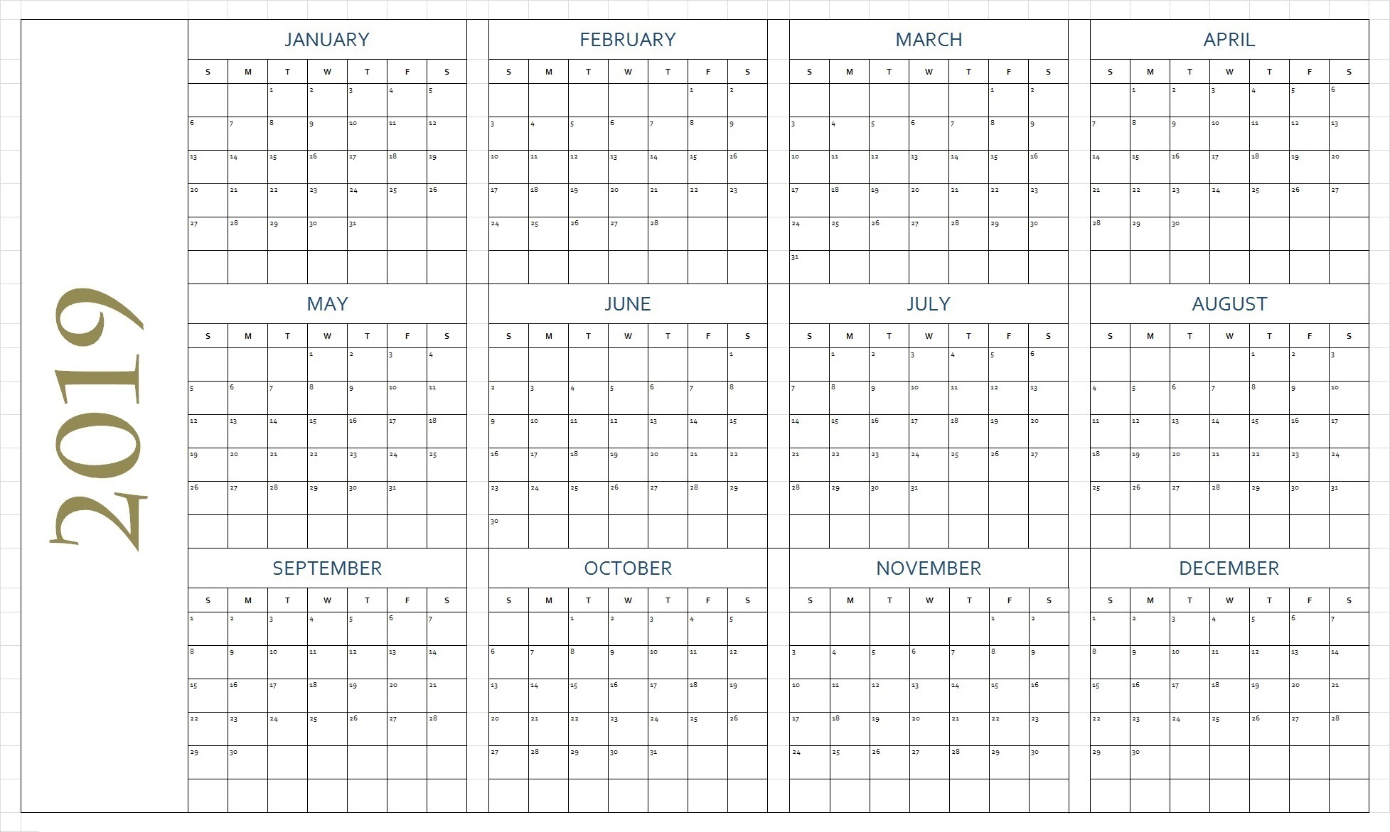 Free Blank Printable Calendar Pages