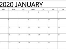 Free Editable January 2020 Calendar