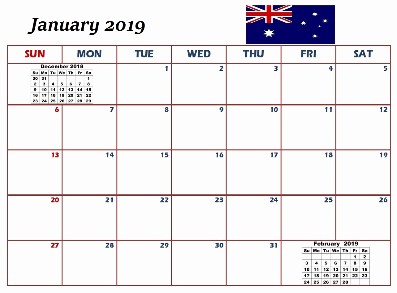 January 2019 Calendar With Holidays US