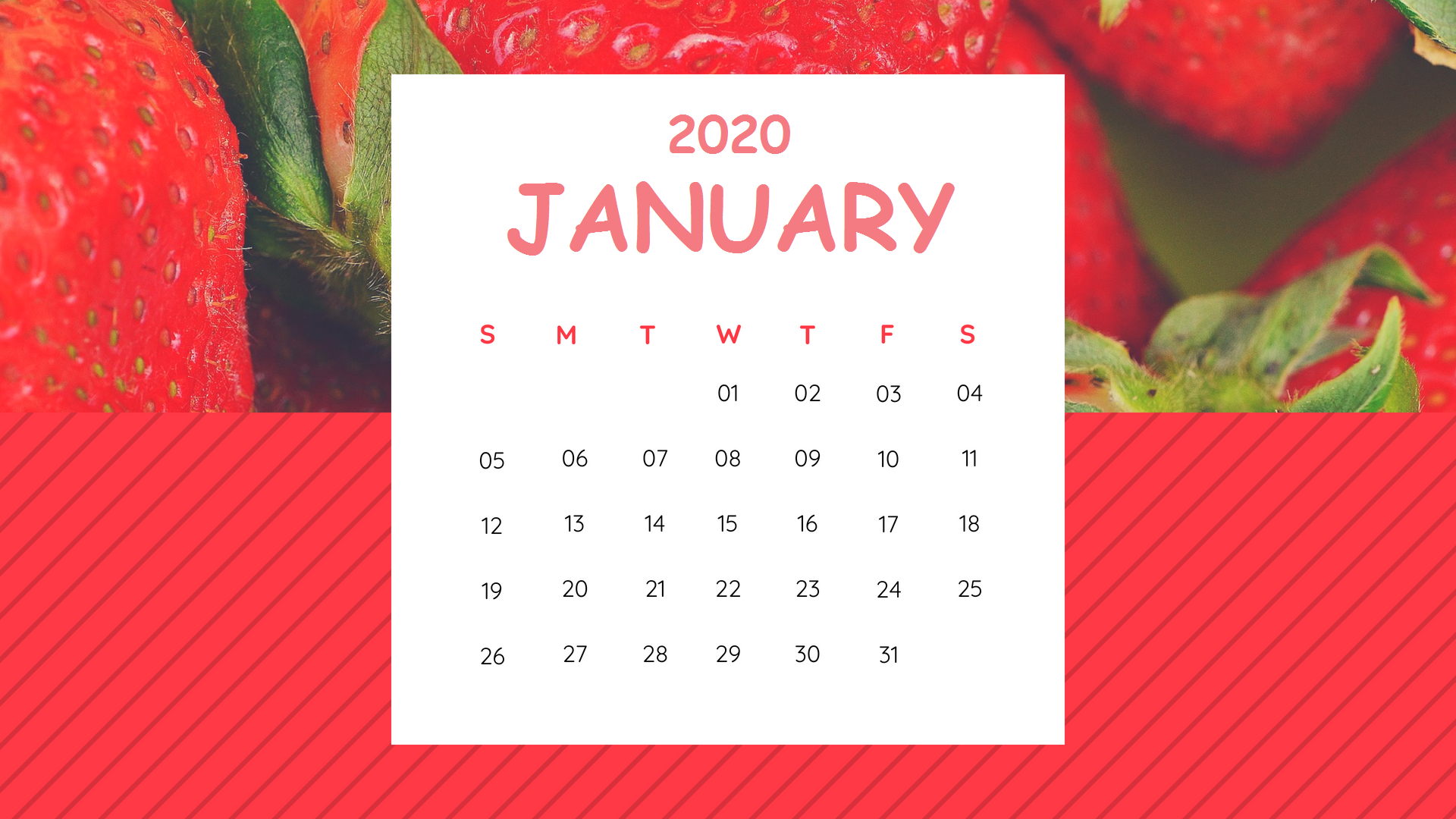 January 2020 Calendar Wallpaper