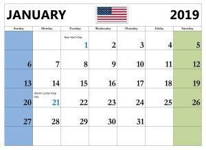 February 2019 Calendar With Holidays USA