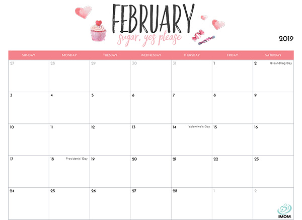 February 2019 Printable Calendar With Holidays