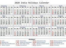 February 2020 India Holidays Calendar