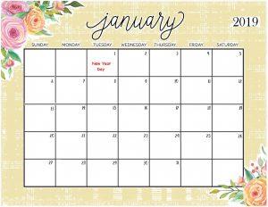 Floral Calendar January 2019 For Desktop