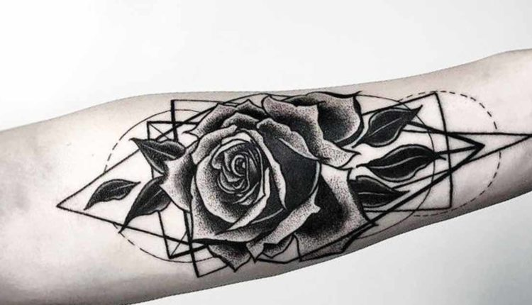 January Birth Flower Tattoo Black and White