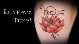 January Birth Flower Tattoo Images