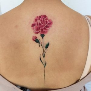 January Birth Flower Tattoos