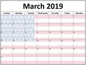 March 2019 Calendar US