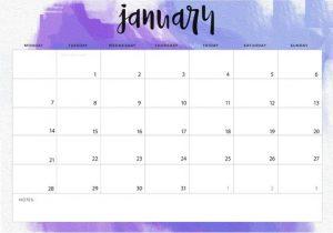 Print January 2019 Desk Calendar