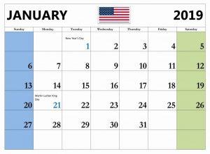 Blank Calendar February 2019 With Holidays