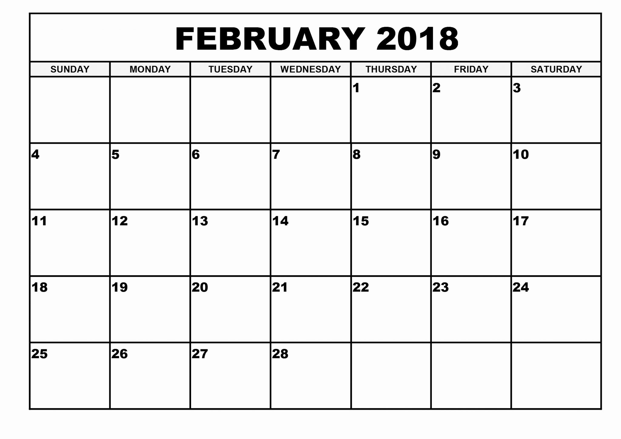 Calendar February 2019 Template Free Printable Calendar Templates