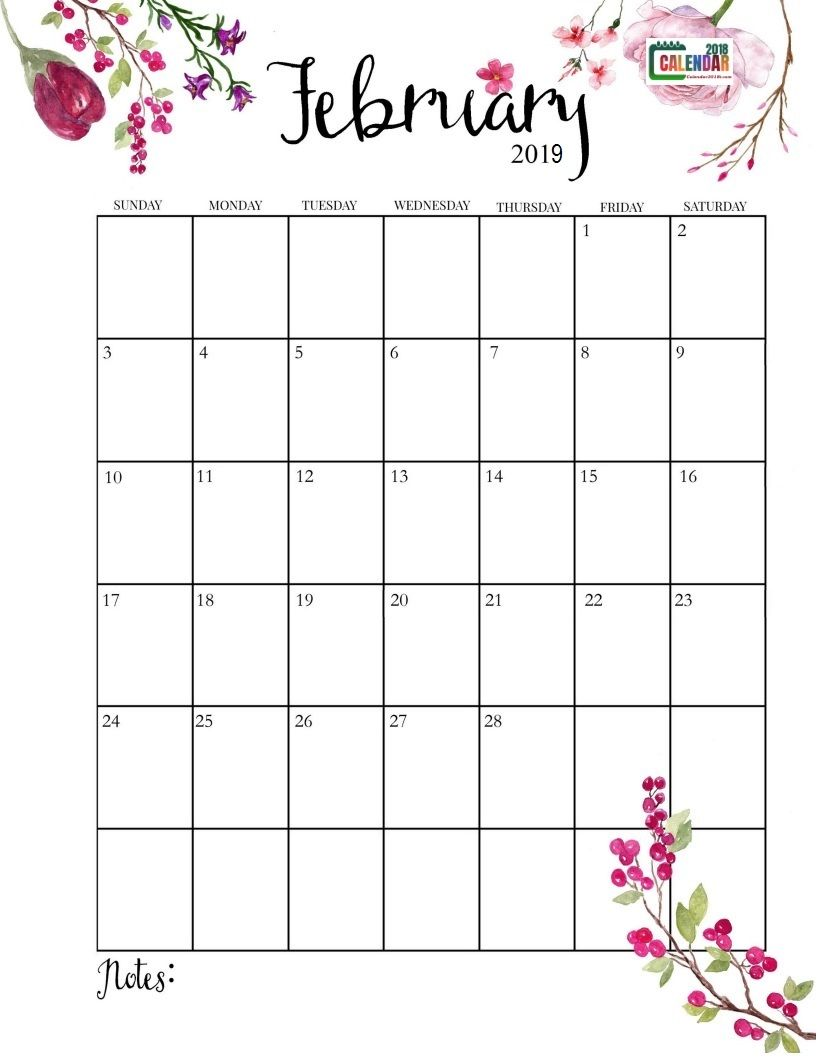 Cute 2019 February Calendar Cute February 2019 Calendar   Free Printable Calendar, Templates