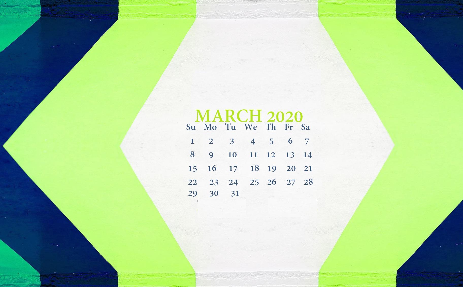 Desktop Calendar March 2020