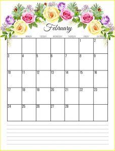 Floral Calendar For February 2019