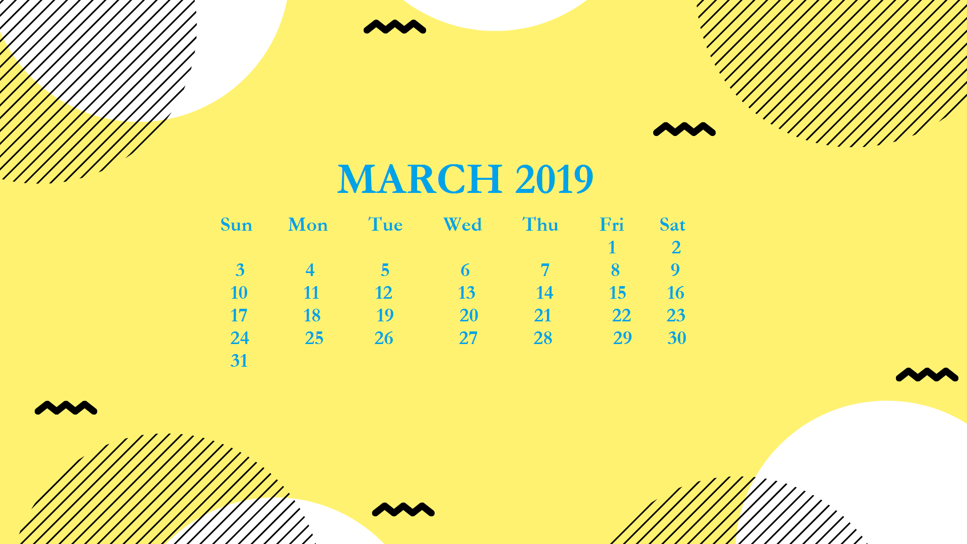 Free March 2019 HD Calendar Wallpaper