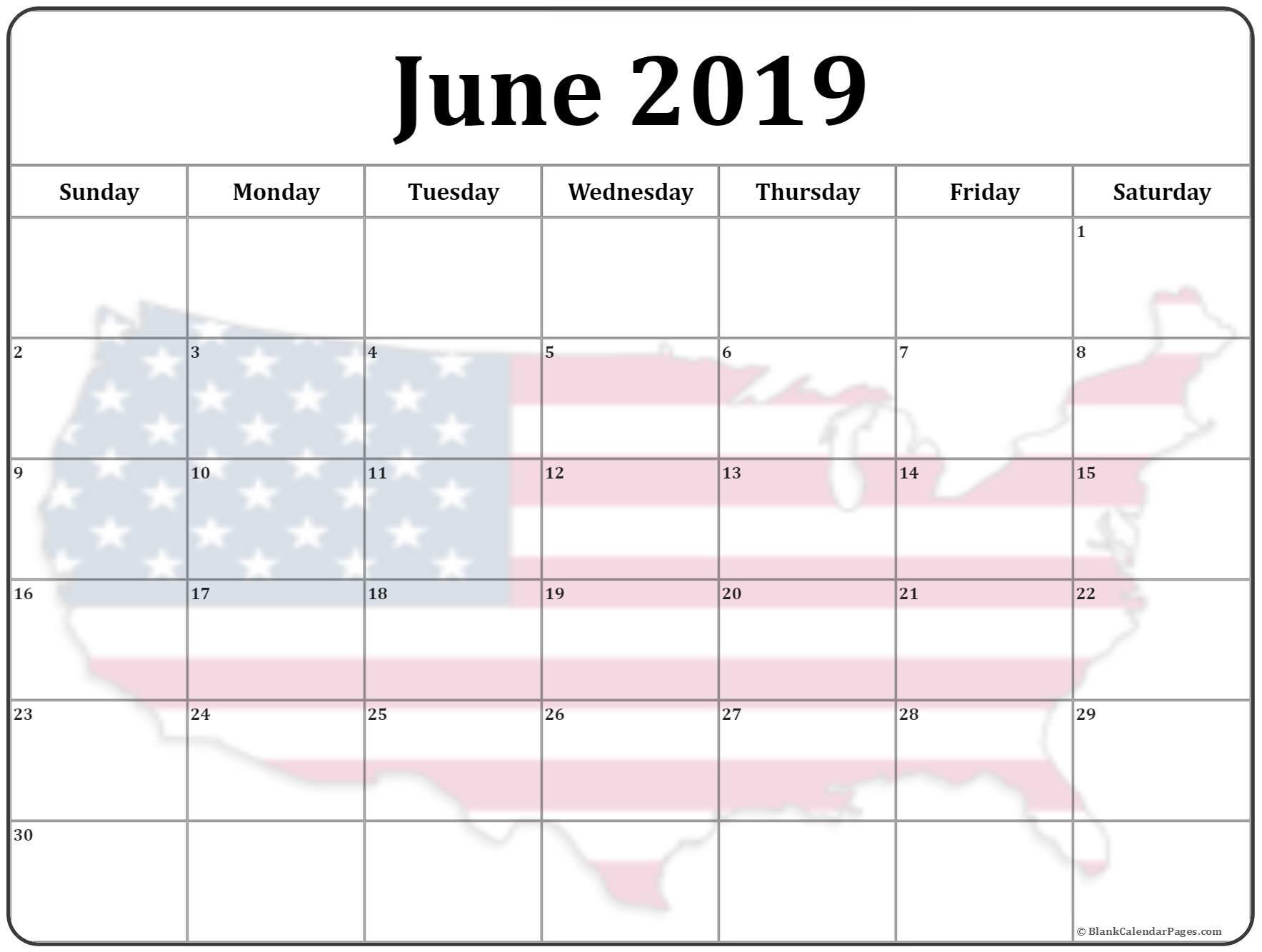 June 2019 Calendar Australia