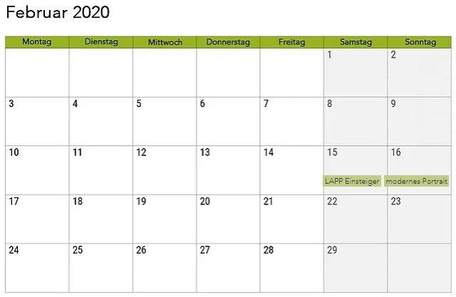Kalender Februar 2020 Mit Feiertagen Anpassen