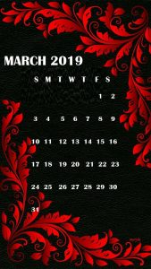 March 2019 iPhone Calendar