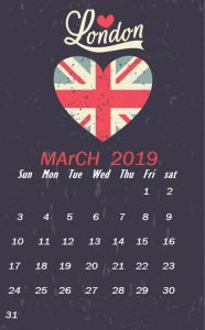 March 2019 iPhone Calendar Wallpaper