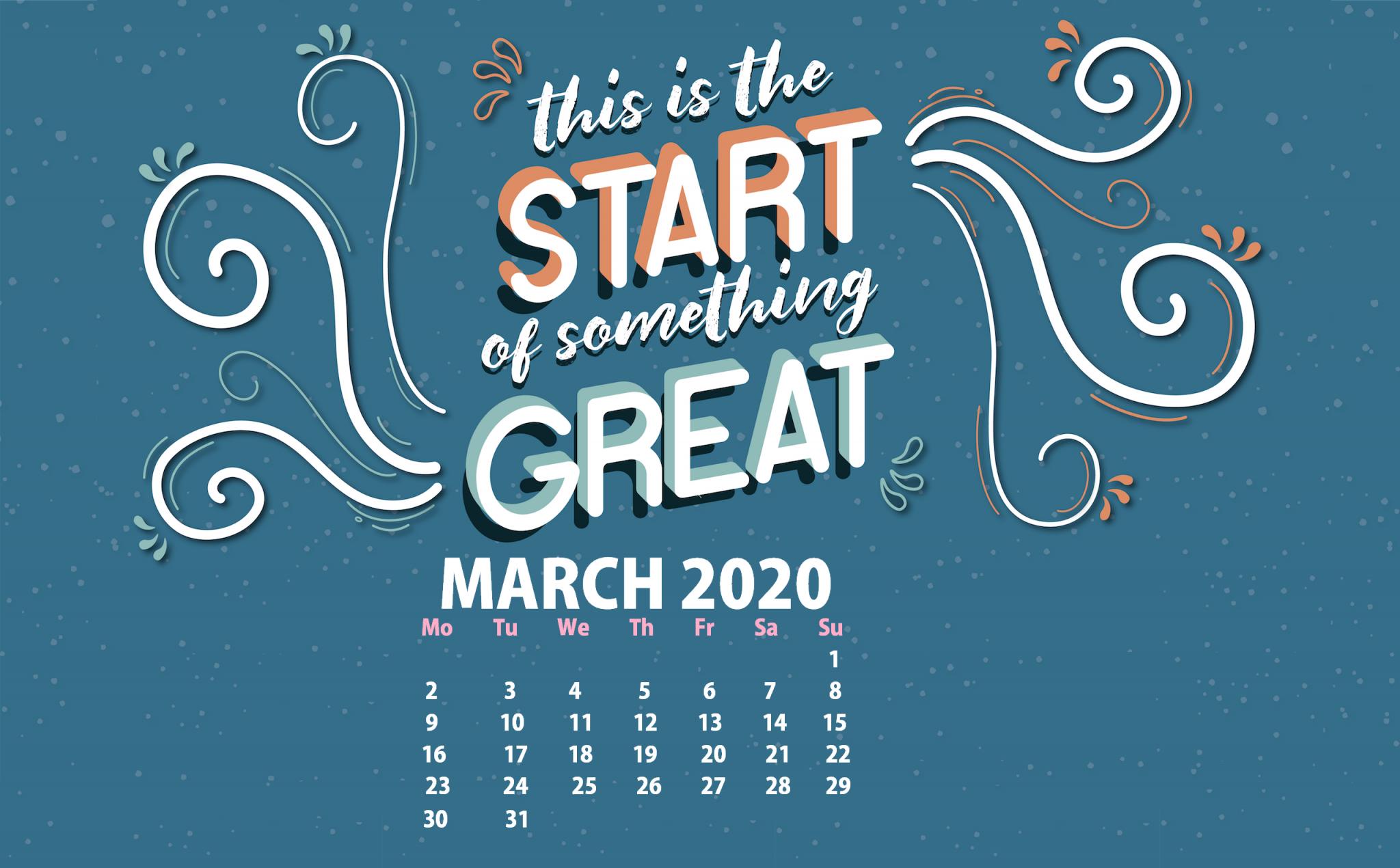 March 2020 Desktop Background