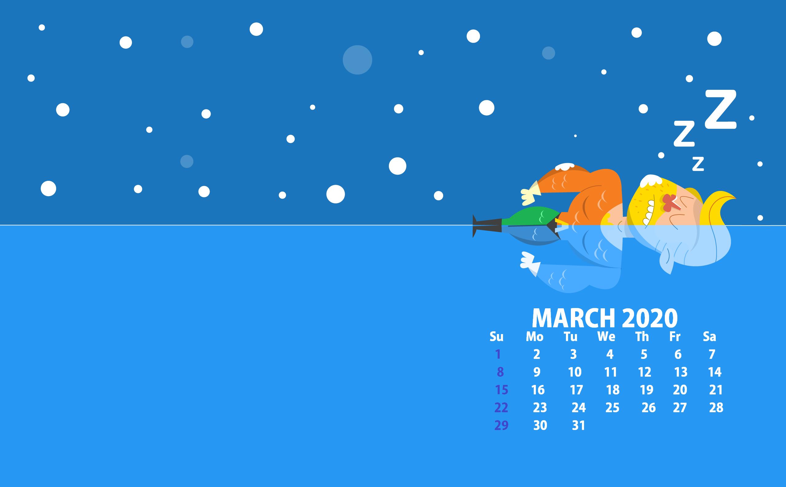 March 2020 Desktop Screensaver