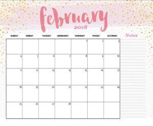Modern Minimal February 2019 Cute Calendar