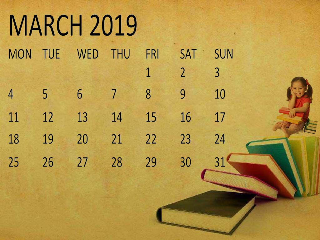 Cute March 2019 Calendar Wallpaper