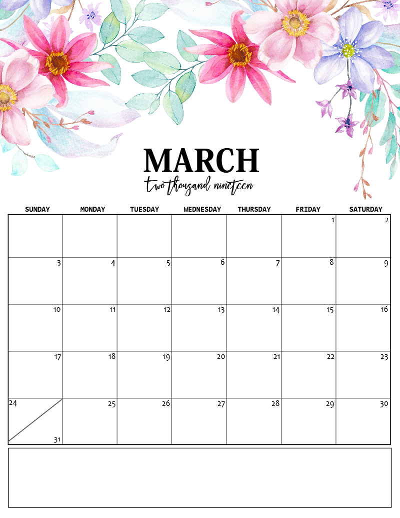 Cute March 2020 Desk Calendar