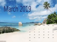 Download Cute March 2019 Calendar