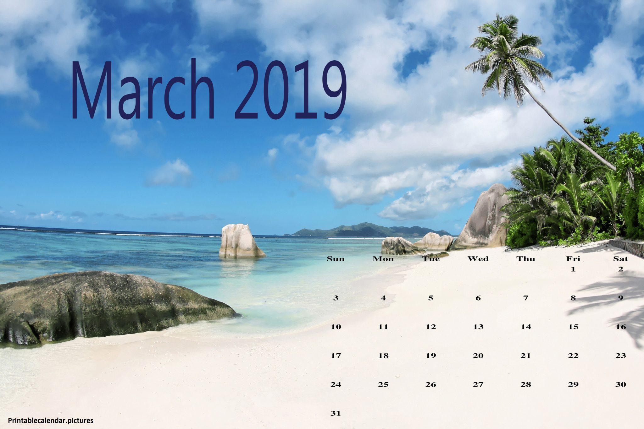Download Cute March 2019 Calendar