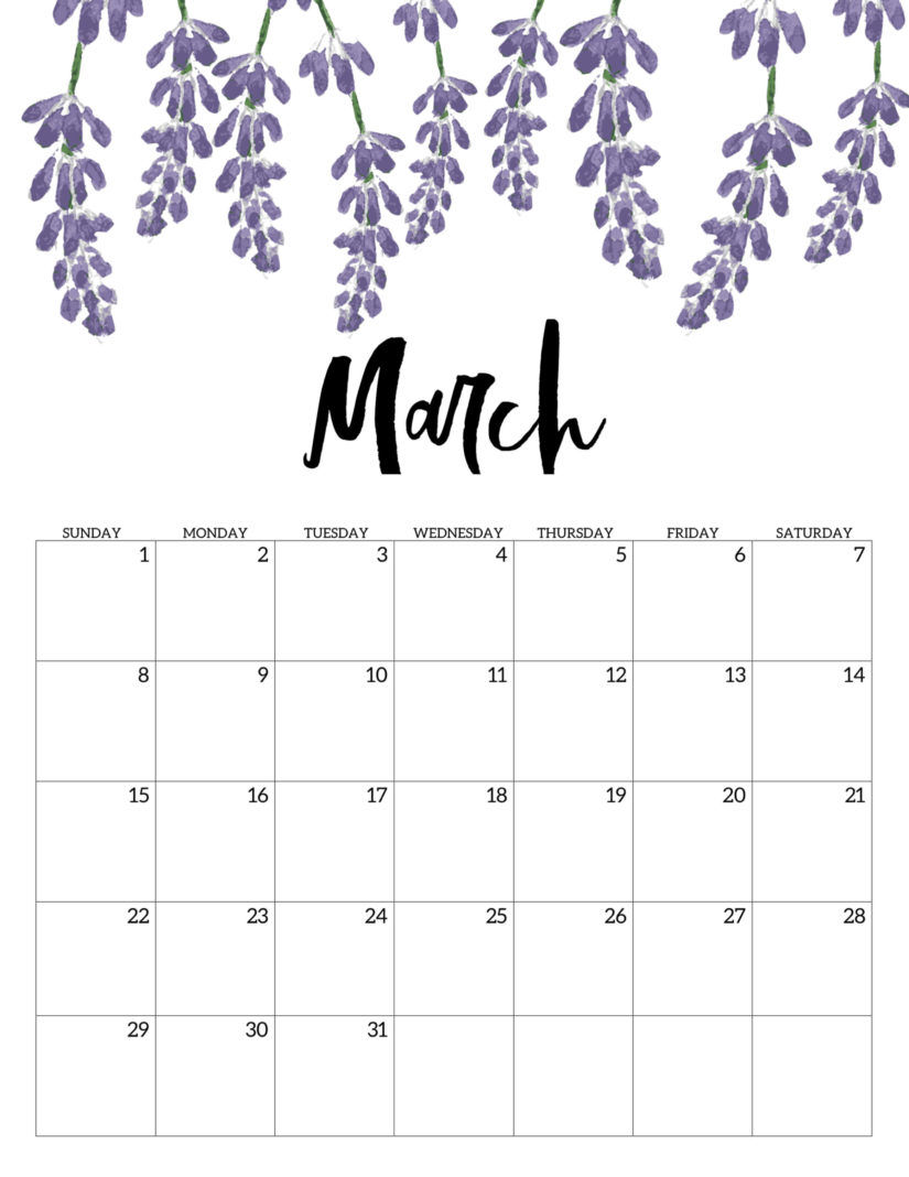 Floral Calendar March 2020