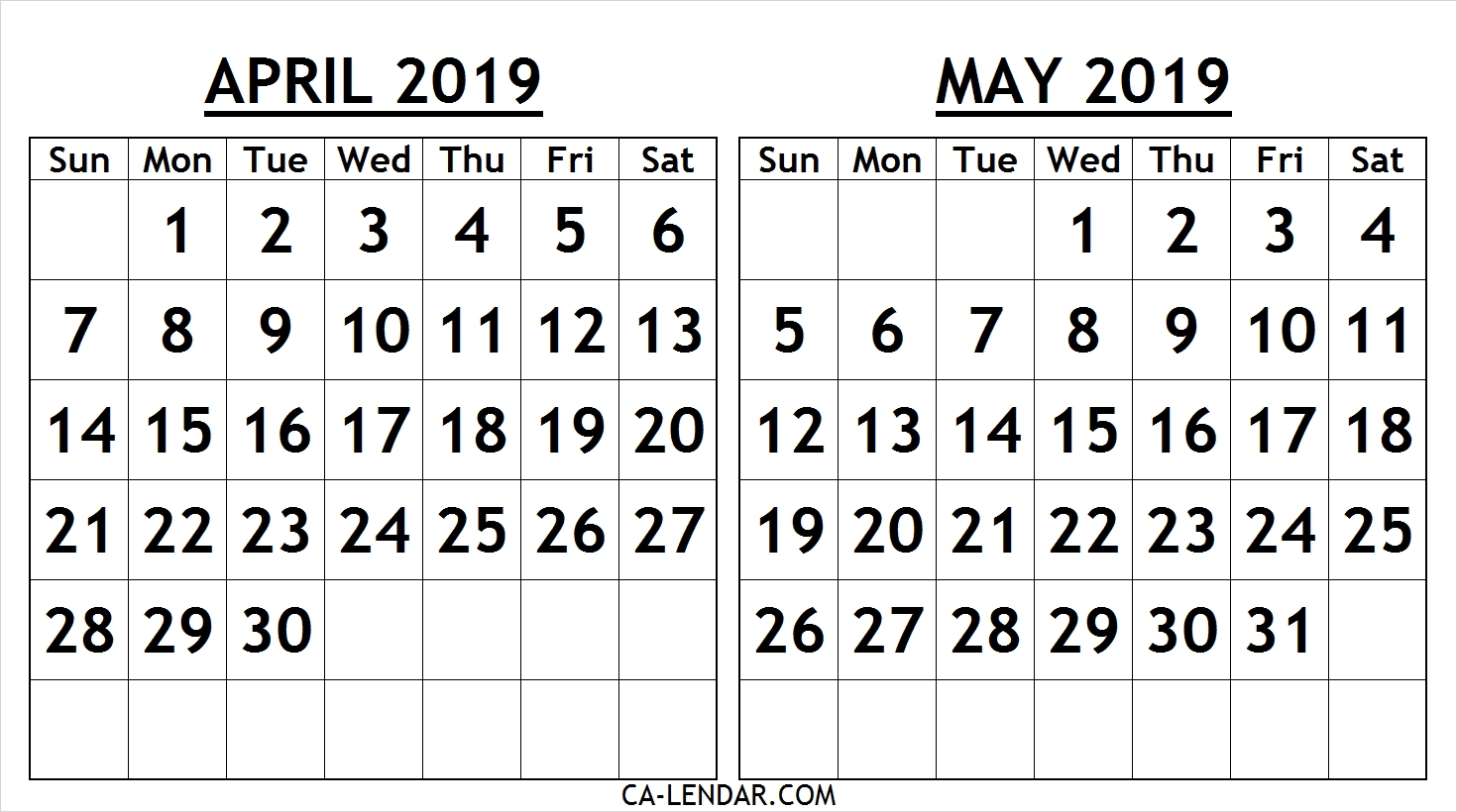 image about Printable April Calendar identify April 2019 Calendar Template Printable - Floss Papers
