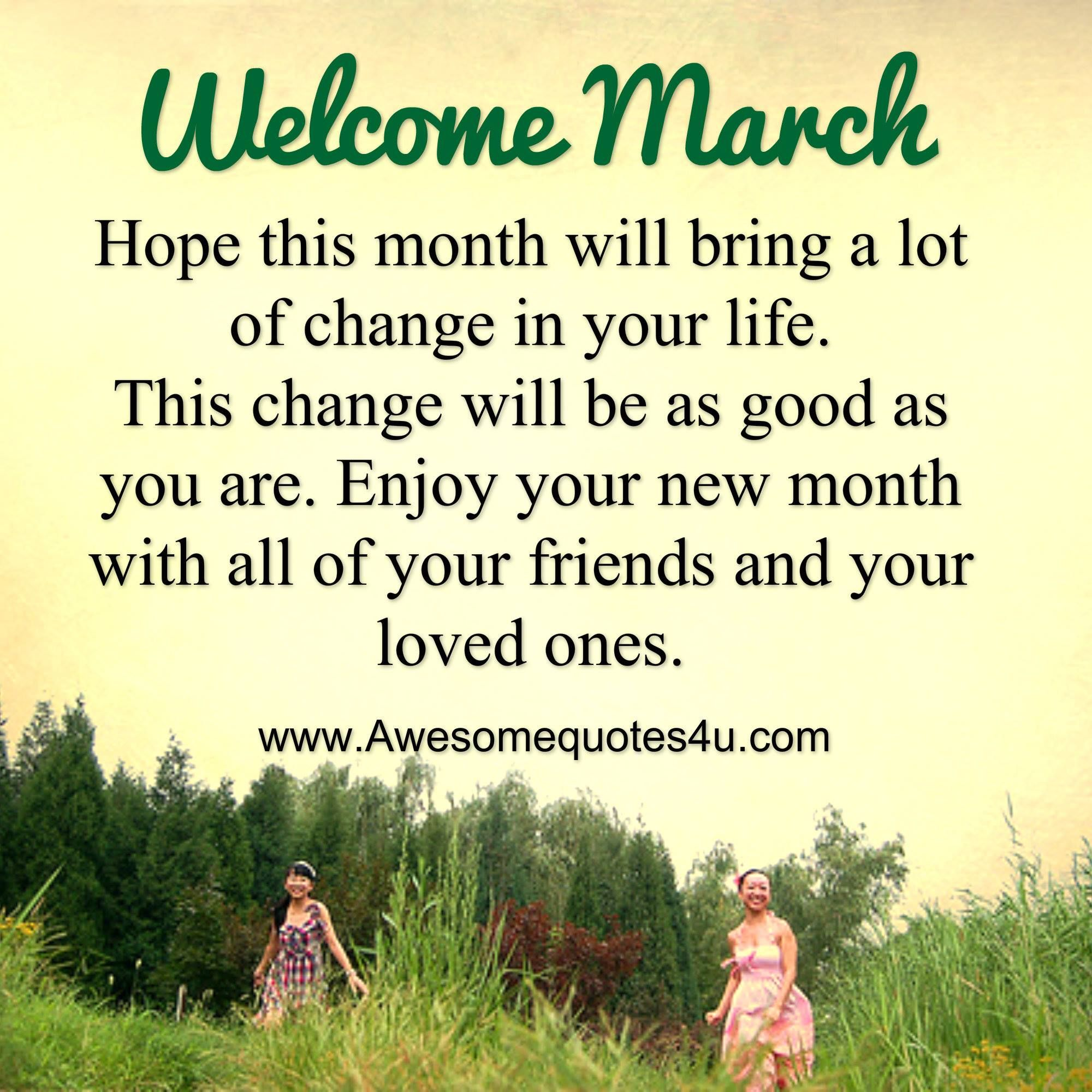 Welcome March Positive Quotes