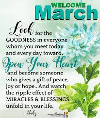 Welcome March Sayings