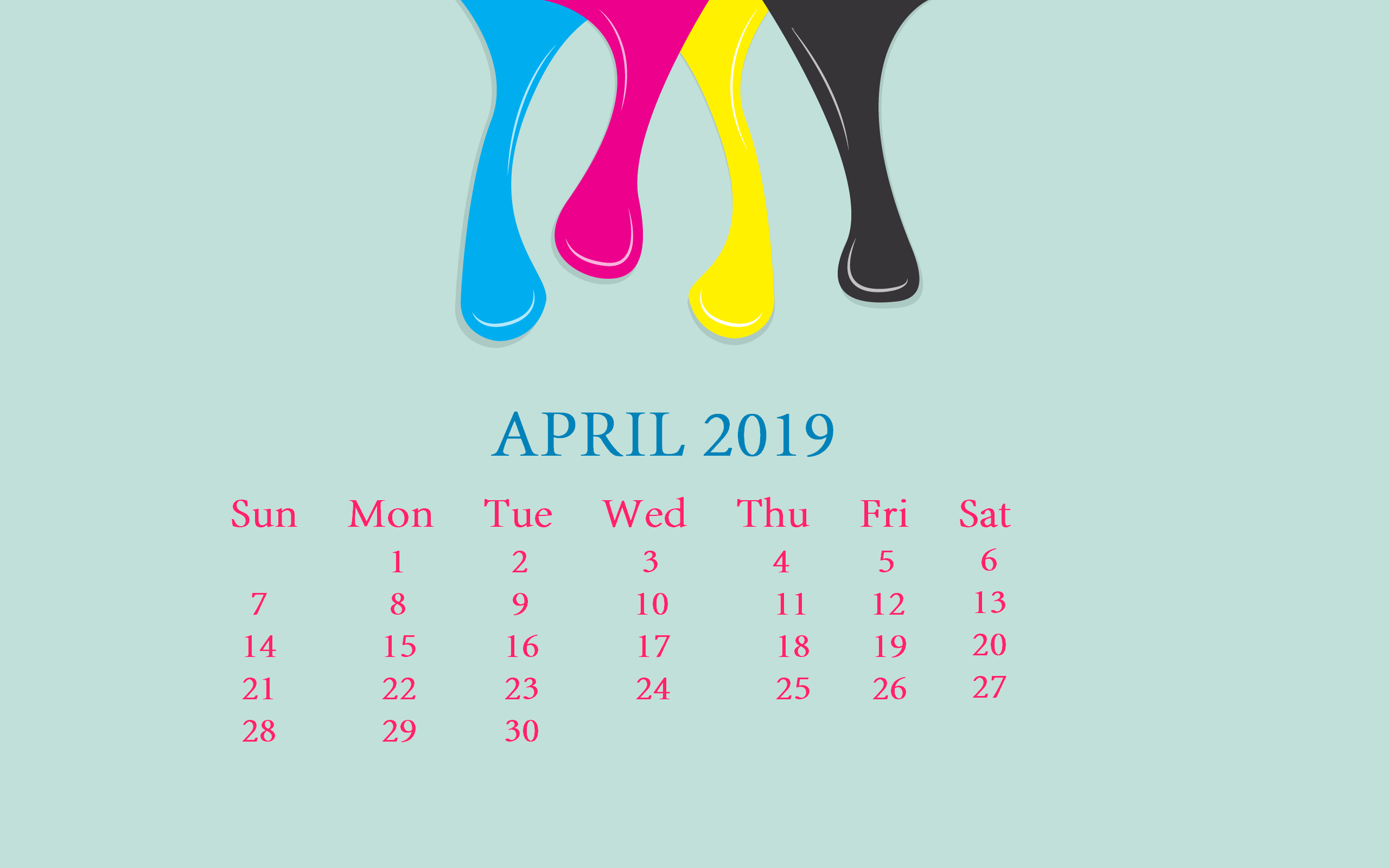 April 2019 Calendar Wallpaper For Desktop