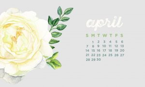 April 2019 Desktop Calendar Wallpaper