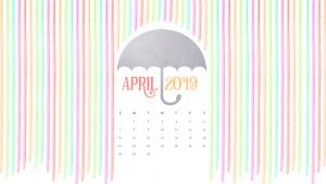 April 2019 Desktop HD Calendar Wallpaper