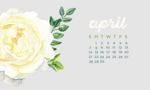 Cute April 2019 Calendar Wallpaper