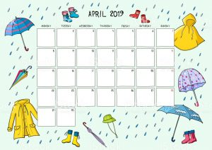 Cute April 2019 Calendar For Kids