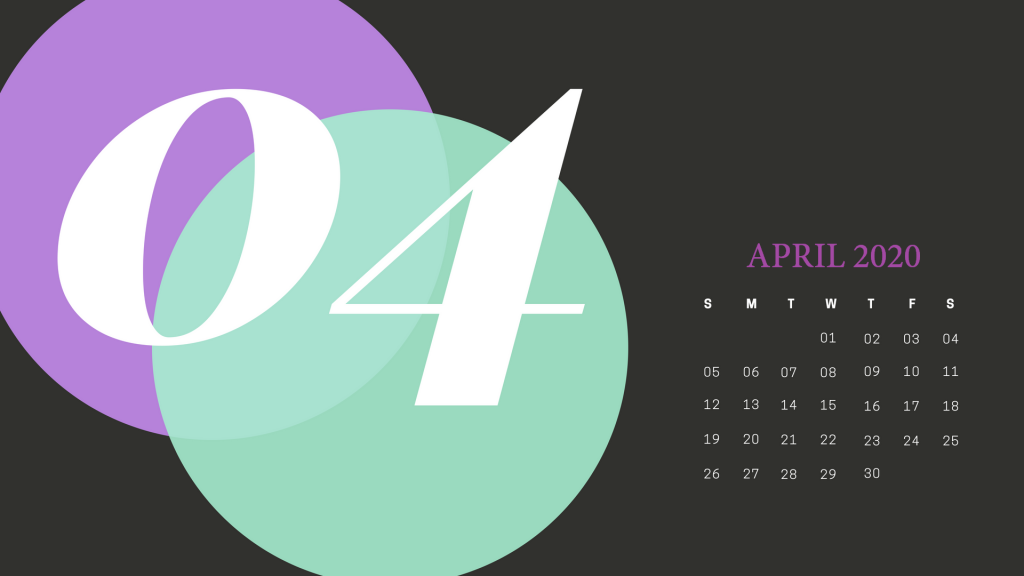 Cute April 2020 Calendar Wallpaper