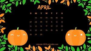 Desktop Calendar Wallpaper April 2019
