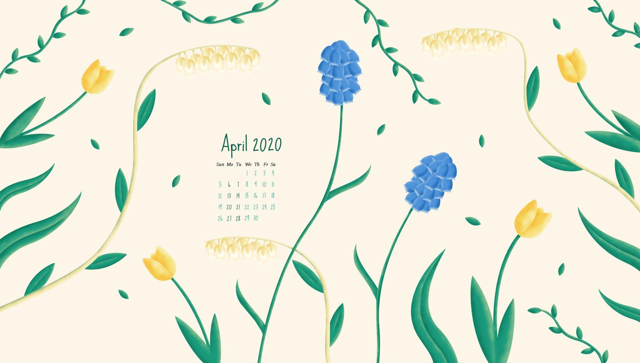 Desktop Calendar Wallpaper April 2020