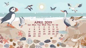 Download April 2019 Wallpaper Calendar