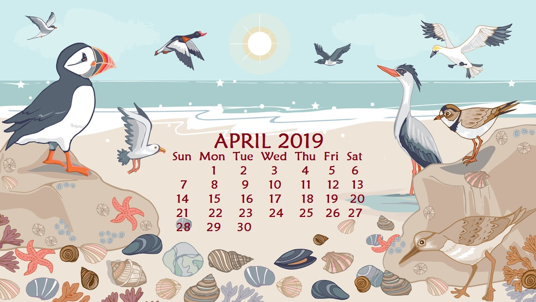 Download April 2019 Wallpaper Calendar