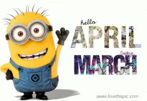 Welcome April Goodbye March Images