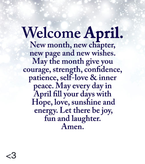 Welcome April Images Quotes