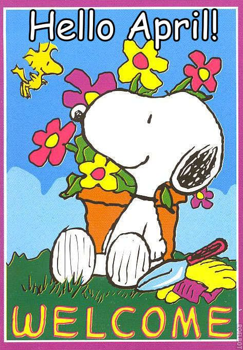 Welcome April Snoopy Images