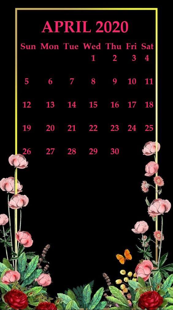 iPhone April 2020 Calendar